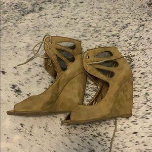 Boho wedge high heels